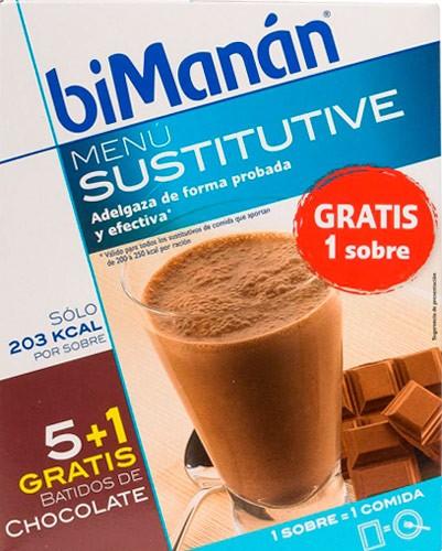 Bimanan Sustitutive Batido Chocolate 6 Sobres De 250 Gr