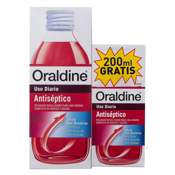 ORALDINE ANTISEPTICO 400ML + 200ML REGALO