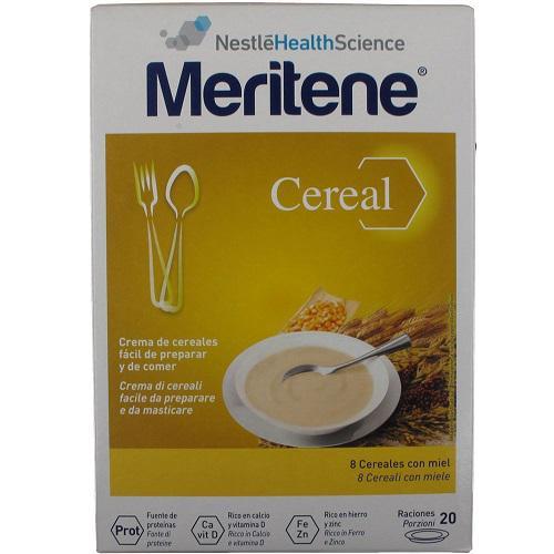 MERITENE CEREAL INSTANT 8 CEREALES CON MIEL 2x300g