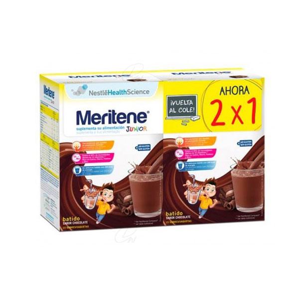 MERITENE JUNIOR CHOCOLATE 2X15 SOBRES DUPLO OFERTA