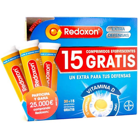REDOXON EXTRA DEFENSAS VITAMINA C, VITAMINA D Y ZINC 30+15 COMPRIMIDOS