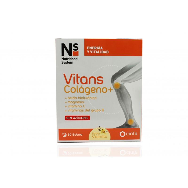 NS Vitans Colágeno+ Sabor Vainilla 30 Sobres